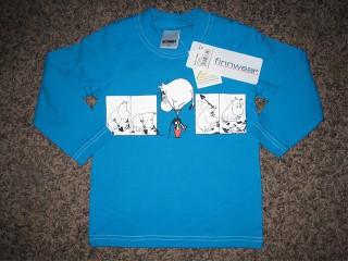 Finnwear Lapio-Muumi sininen pitkähihainen paita