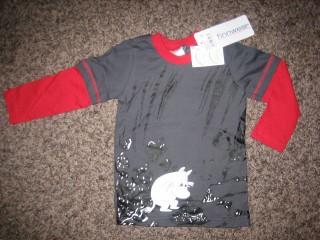 Finnwear Muumi Lohkare pitkähihainen paita tummaharmaa [98-128]