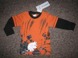 Finnwear Muumi Lohkare pitkähihainen paita ruoste (128cm)