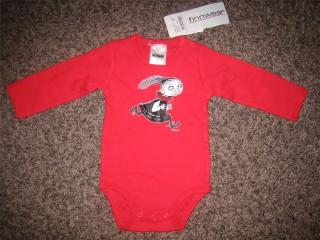 Finnwear Muumi Onnenpäivä Pikku Myy body punainen