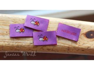 Saumamerkki Leppis Handmade violetti