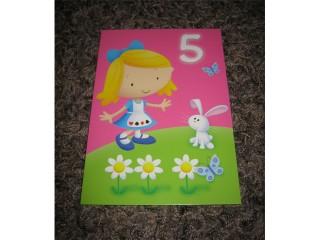 Postikortti 5v tyttö