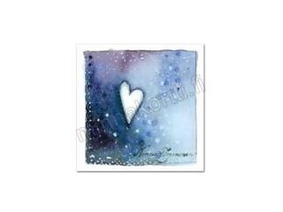 Magneetti sydän tumman sinisen sävyjä