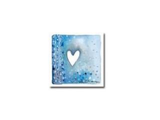 Magneetti sydän sinisen ja harmaan sävyjä
