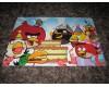 Angry Birds Synttärit ja vihreä kakku postikortti