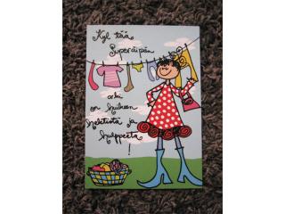 Postikortti Superäipän arki