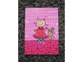 Postikortti Tyttövauva