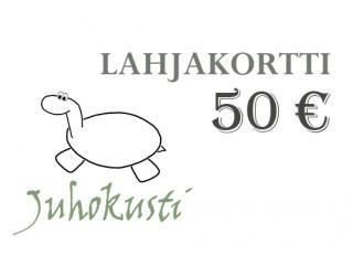 Lahjakortti, arvo 50euroa